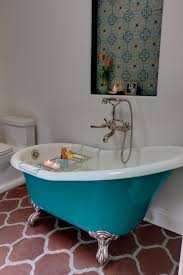 turquoise bathroom floor tiles eclectic master bathroom with penny tile floors by synthesis inc