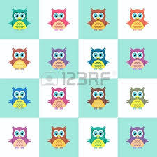little cute colorful owl vector illustration simple card royalty