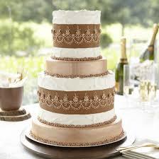 metallic bronze tiered cake wilton