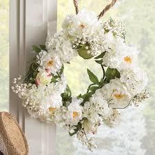 hydrangea wreath august grove 20 peony hydrangea wreath reviews wayfair