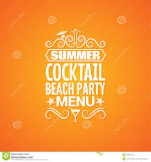 cocktail summer party design menu background stock vector image