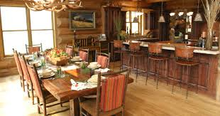 beautiful log home interiors beautiful log cabin dining room ideas home living