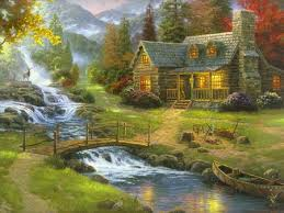 171 best paintings cottages and gardens images on