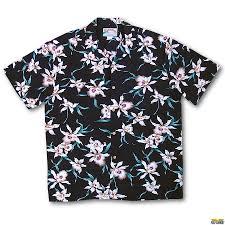 orchid aloha shirt