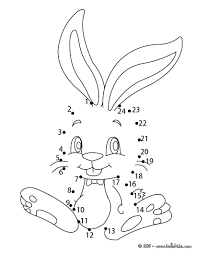 cute bunny dot to dot game coloring pages hellokids com