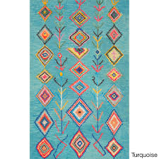 overstock area rug nuloom contemporary hand tufted wool moroccan triangle multi rug