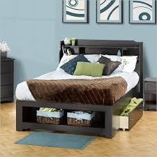 Black Full Size Bed Frame Full Size Bed Frames With Storage With Solid Black Finish And One