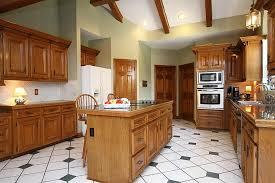 solid wood kitchen islands kitchen interior shaker oak kitchen set design with wood beam