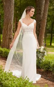 sle wedding dresses this cap sleeve column wedding dress from stella york is a fashion