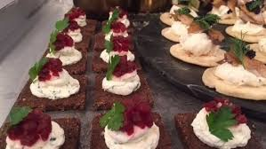 canape toast beetroot and horseradish on rye toast food lorraine