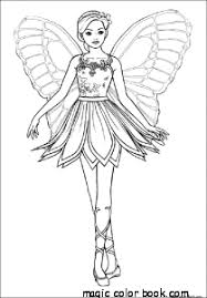 fairy flying princess coloring pages
