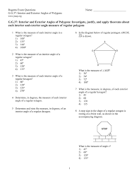 Interior Angle Sum Of A Decagon G G 37 Interior And Exterior Angles Of Polygons