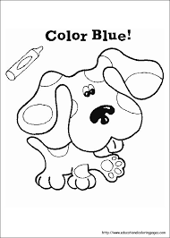 blue u0027s clues coloring sheets educational fun kids coloring pages