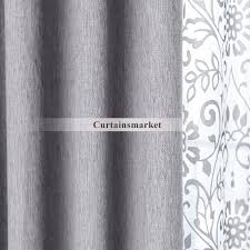 White Linen Blackout Curtains Bedroom And Living Room Gray Blackout Curtains