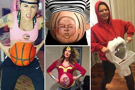 pregnancy costumes expectant mums create hilarious and spooky fancy dress costumes