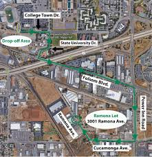 Sac State Campus Map by Bus Drop Off