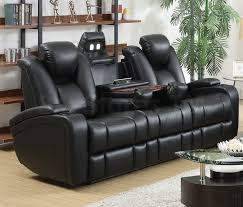 Leather Reclining Sofa With Console by Sale 1745 00 Delange Power Motion Sofa Sofas Sofa Beds Coa