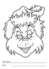 free grinch coloring pages kids outline icing