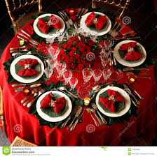 decorated christmas dining table royalty free stock images image