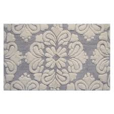 Non Skid Bath Rugs In Grey Medallion Cotton Tufted Non Skid Bath Rug Set Of 2
