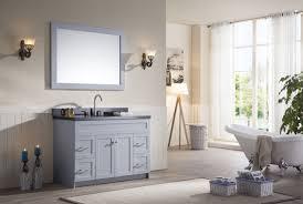 White Bathroom Vanity With Black Granite Top by Ariel Hamlet 49