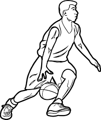 fast go playing basketball coloring page wecoloringpage
