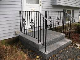 outside railing for stairs handrails outdoor stair railings