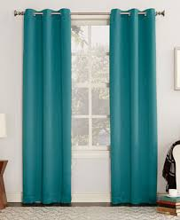 Grommet Curtains Sun Zero Gaylen Blackout Grommet Curtain Collection Macy U0027s