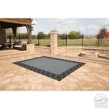 patio mat polypropylene trellis design 9 u0027x12 u0027 black grey