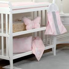 Grey Nursery Bedding Set by Nojo The Dreamer Collection Floral Pink Grey 8 Piece Crib Bedding