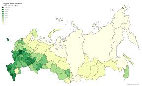 russia map by population population density in russia oc 6576x3990 mapporn