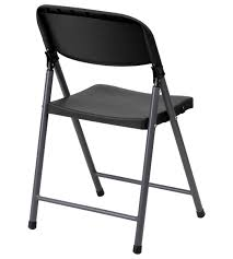 black plastic folding chair with charcoal frame folding chair