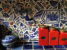 Mosaic Kitchen Backsplash by My Mother Took Broken Polish Pottery And Turned It Into A Mosaic