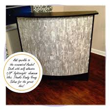 Used Salon Reception Desk Adding Sparkle To The Anabel Reception Desk Lowes Home Depot
