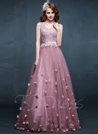 tb dress tbdress a line v neck appliques flowers floor length evening dress