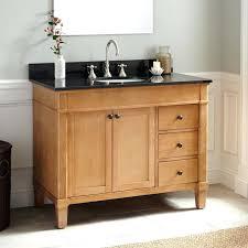 42 Bathroom Vanity Cabinets 42 Inch Bathroom Vanity Cabinet Oak Vanity With Black Marble Top