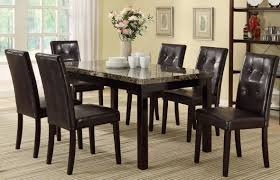 Dining Room Sets 6 Chairs by Amazon Com 7 Piece Casual Dining Set By Poundex Table U0026 Chair Sets