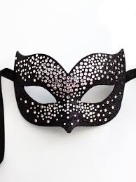 mask for masquerade luxury black silver swarovski bird mask