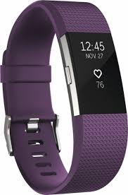 Plum Toaster Fitbit Charge 2 Activity Tracker Heart Rate Small Purple