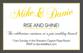 Lunch Invitation Card Wonderful Post Wedding Brunch Invitations Theruntime Com