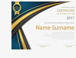 gold border english certificate certificate template training