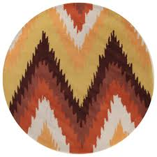 Orange Modern Rug Grace 630 Rust Orange Modern Rug Rugtastic