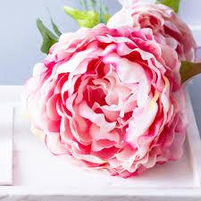 silk peonies 3pcs 12pcs large pink peony peonies silk flowers byanca