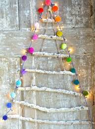 ladder christmas tree christmas home decorating thelittleboysroom snowy rope ladder