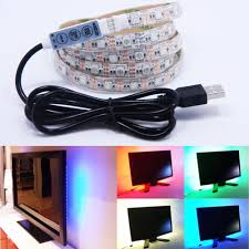 pc led light strips usb 5v 5050 rgb led flexible strip light lamp tv background