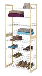 whitmor closet storage shelves wood and chrome