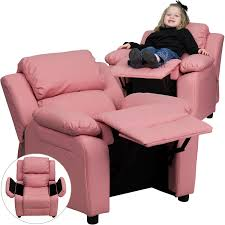 Toddler Recliner Chair Amazon Com Flash Furniture Deluxe Padded Contemporary Pink Vinyl