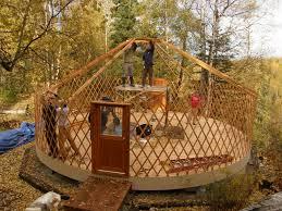 an alaskan family with a yurt wecome back yurt