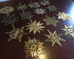 mma snowflake sterling silver ornament