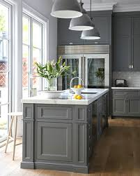 grey painted kitchen cabinets 15 stunning gray kitchens gray kitchens kitchens and gray